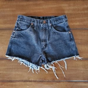 Vintage Black Wrangler Cut Off shorts high waist